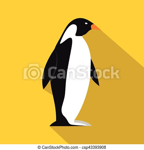Penguin icon, flat style - csp43393908
