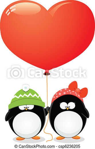 Penguin Love - csp6236205