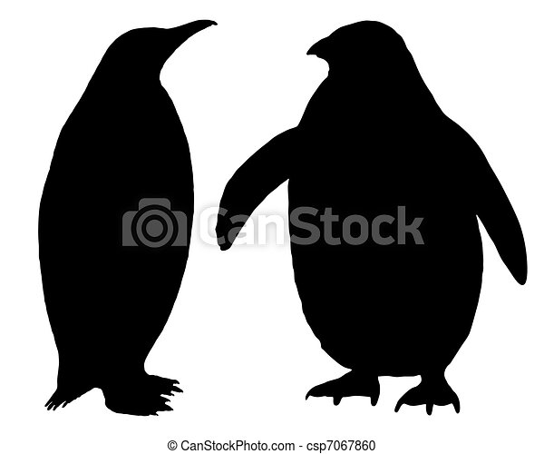 penguin silhouette vector clipart - search illustration, drawings
