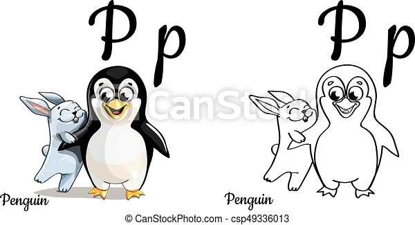 Vector Alphabet Letter P Coloring Page