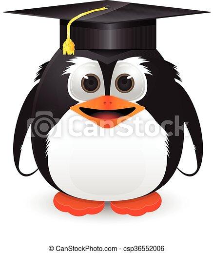 Penguin with graduation cap - csp36552006