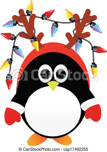 penguin with lights - csp17492255