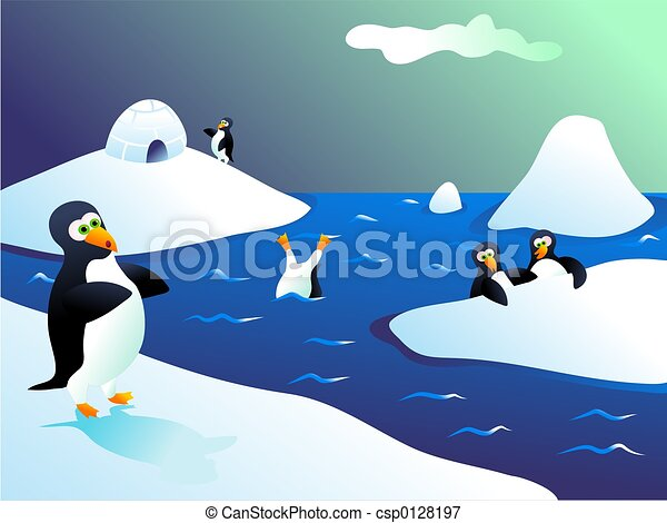 Zoo Animals Clip Art Border Penguins. In iceland s...