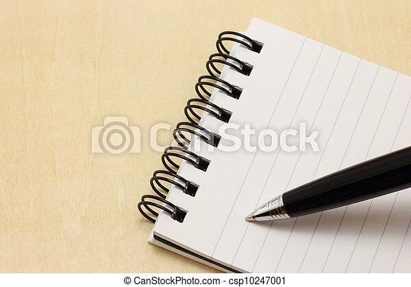 penna, blocco note, scrittura - csp10247001