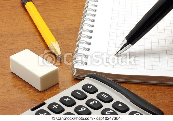 penna, blocco note, scrittura - csp10247384