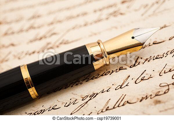 penna, fontana - csp19739001