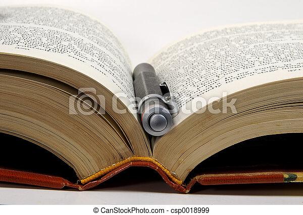 penna, libro, 3 - csp0018999