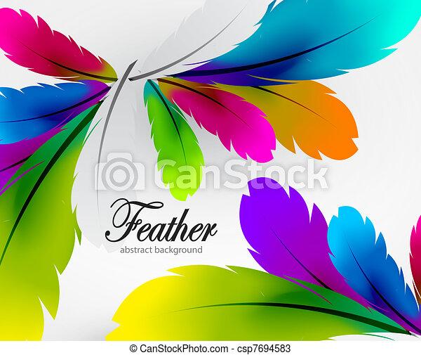 penna, vettore, colorito, fondo - csp7694583