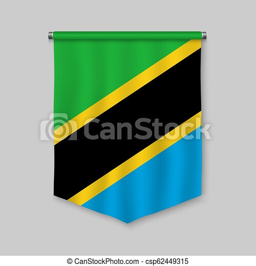 pennant with flag - csp62449315