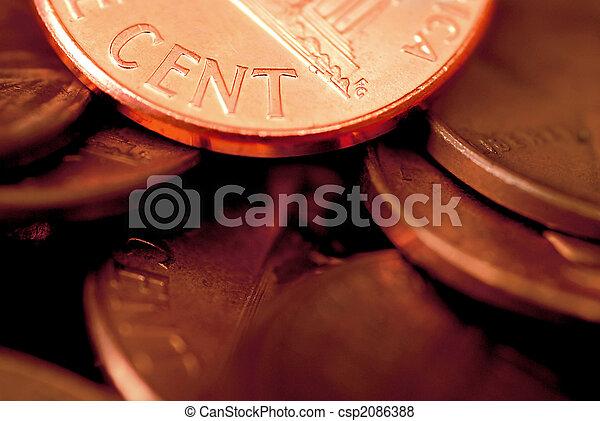 Pennies - csp2086388