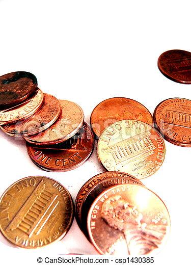 Pennies - csp1430385
