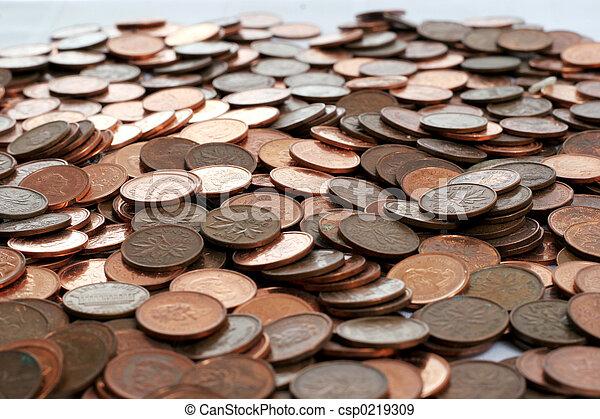 pennies - csp0219309