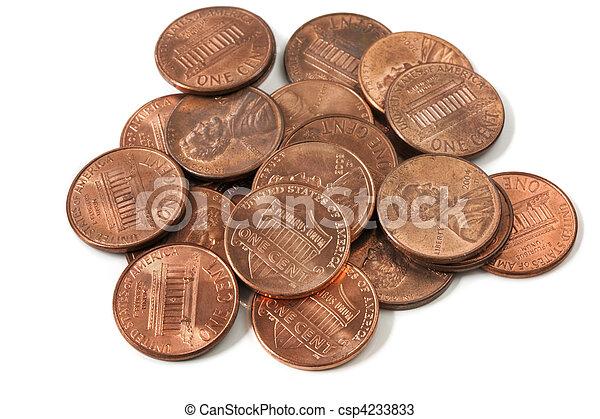 Pennies - csp4233833