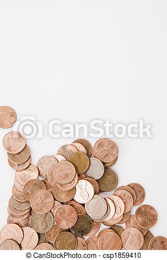 Pennies Vertical - csp1859410