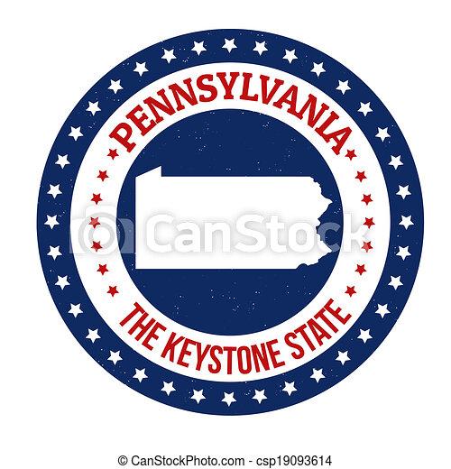 Pennsylvania stamp - csp19093614