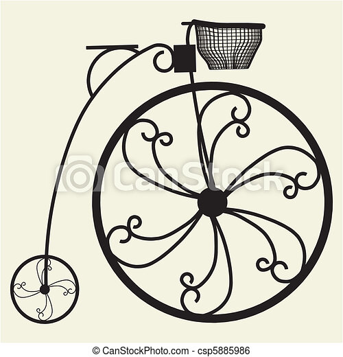 Penny-Farthing Bicycle - csp5885986