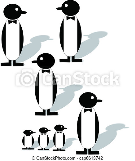 penquins on white - csp6613742