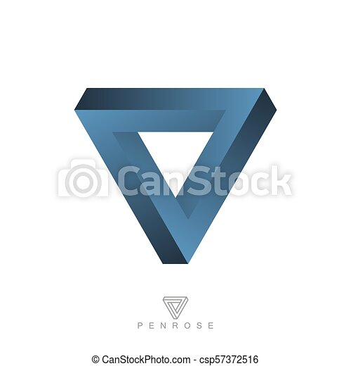 Penrose triangle Impossible object Penrose stairs Shadows of the Mind,  triangle transparent background PNG clipart   HiClipart