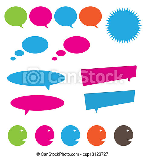 pensée, bulles, parler - csp13123727