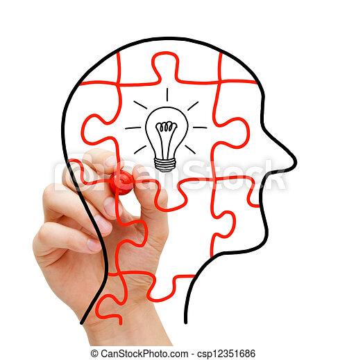 pensée, concept, créatif - csp12351686