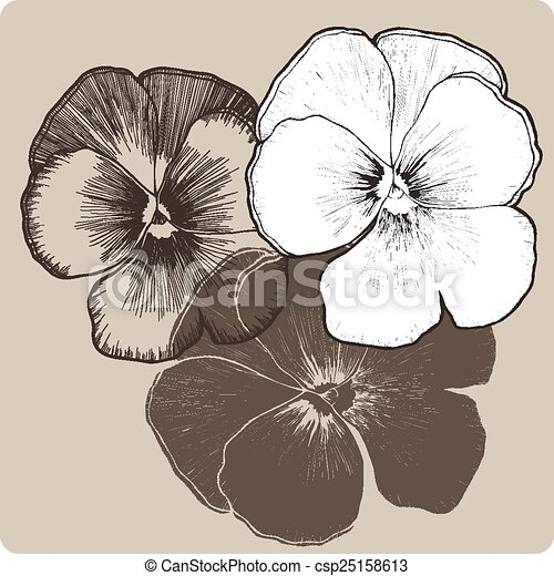 pens e hand drawing vecteur fleur illustration clipart vectoris recherchez. Black Bedroom Furniture Sets. Home Design Ideas