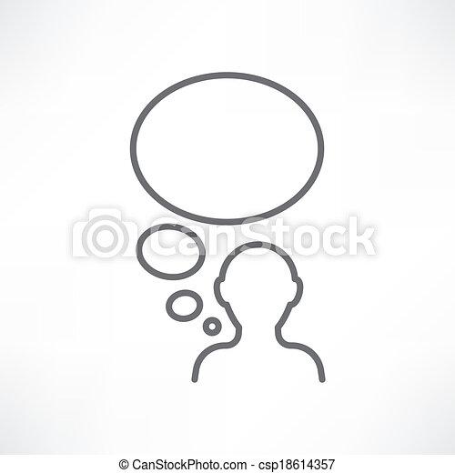 pensée, homme - csp18614357