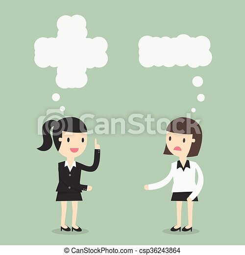 pensée, positif, négatif - csp36243864