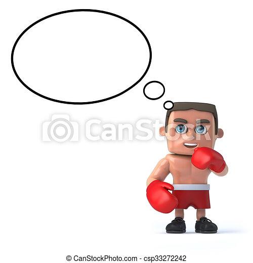 Boxer está pensando - csp33272242