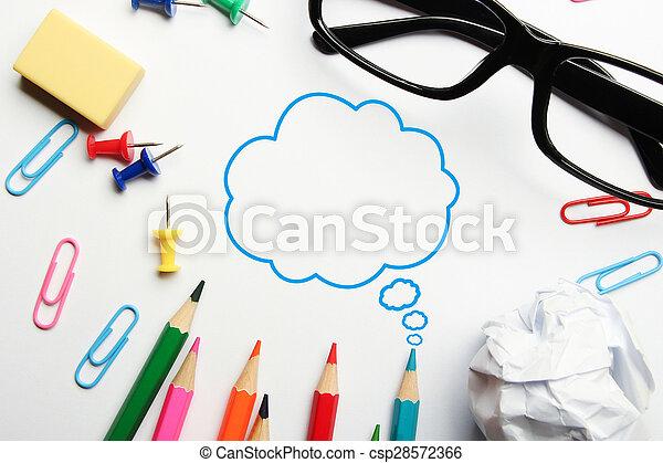 pensamiento, burbuja, creativo - csp28572366