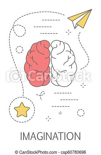 La imaginación y el concepto de creatividad. Idea de pensamiento creativo - csp60780696