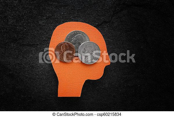 Pensando en el dinero - csp60215834
