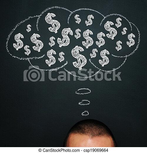 Pensando en el dinero - csp19069664