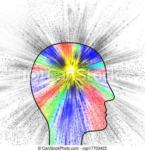 Una explosión de pensamiento, dolor o creatividad - csp17703423