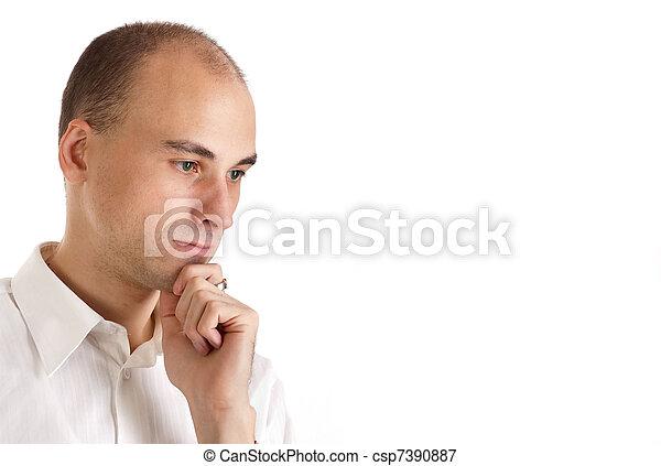 Hombre pensando - csp7390887