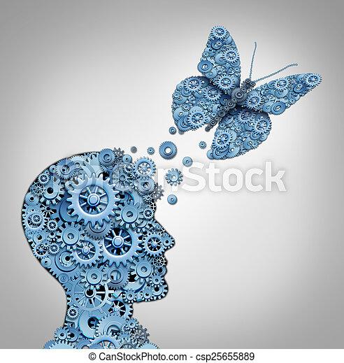 Pensamiento humano - csp25655889