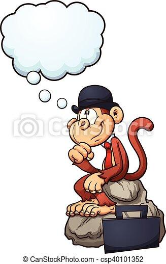 Mono pensante - csp40101352