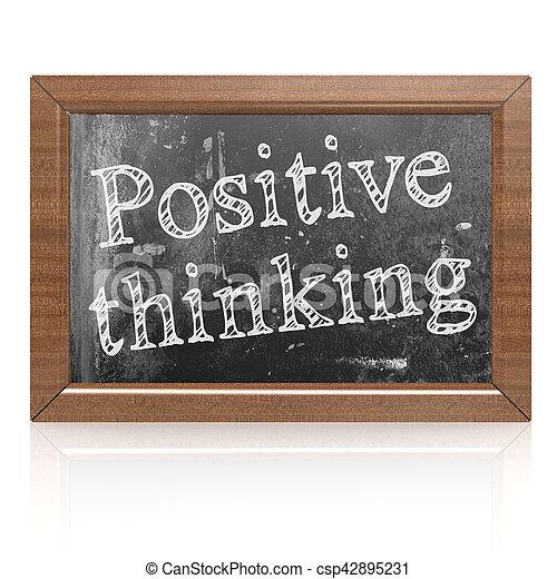Pensamiento positivo escrito en pizarra - csp42895231