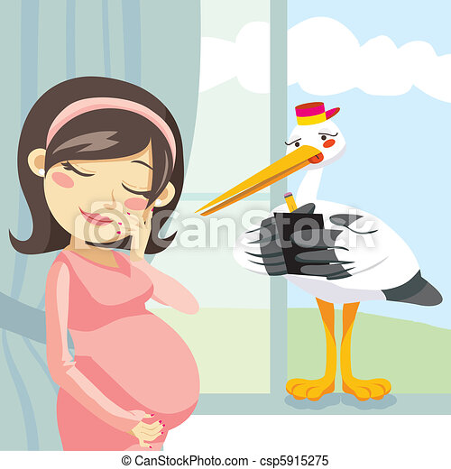pensando, gravidez - csp5915275