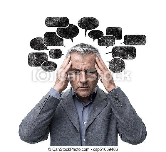 pensando, tensão, negativo - csp51669486