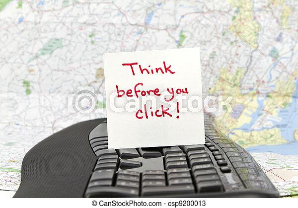 Piensa antes de hacer click - csp9200013