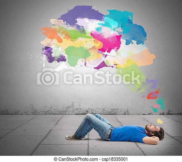 pensar, creativo - csp18335001