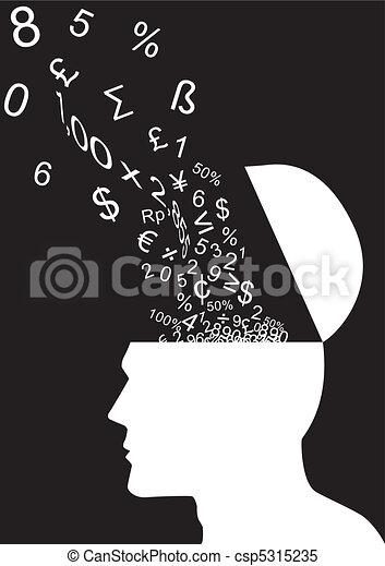 pensar, números - csp5315235