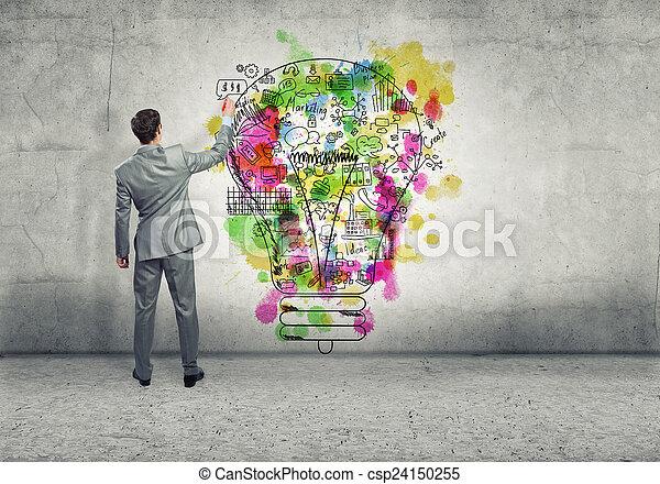 pensare, creativo - csp24150255