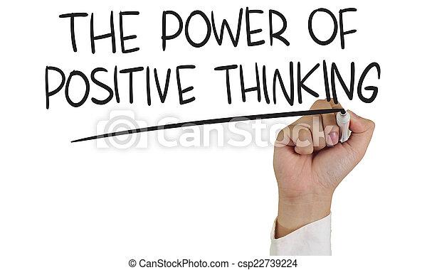 pensare, positivo, potere - csp22739224