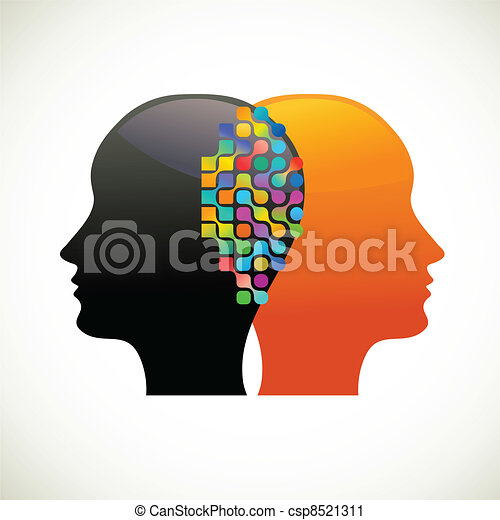 penser, gens, communiquer, parler - csp8521311