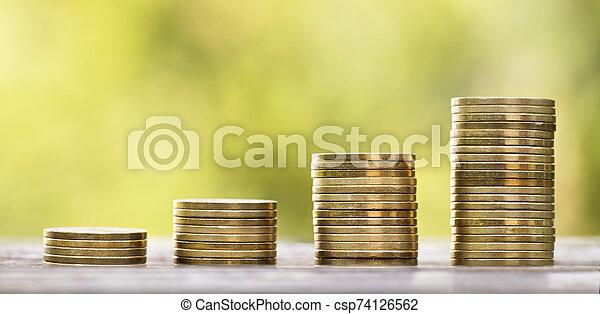 pensión, retiro, concepto, plan de los ahorros - csp74126562
