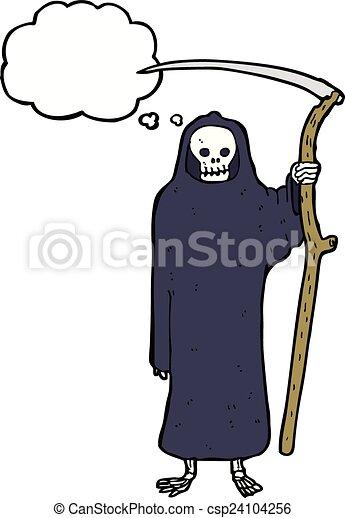 Pensiero morte bolla cartone animato vettore di clipart - Cartone animato immagini immagini fantasma immagini ...