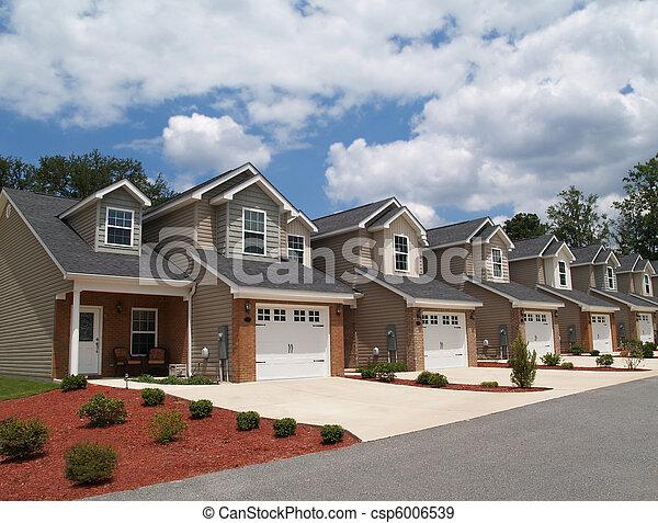 pensioen, rijtjeshuizen, laag, inkomen, com, of - csp6006539