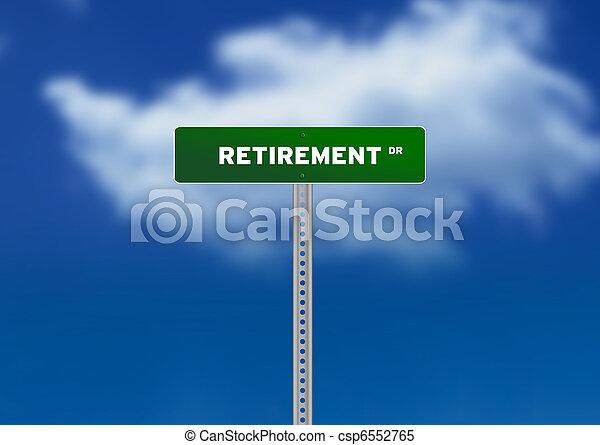 pensioen, wegaanduiding - csp6552765