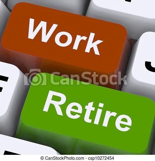 pensioen, werkende , wegwijzer, terugtrekken, keuze, werken, of, optredens - csp10272454